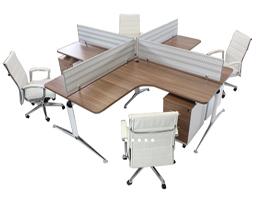 Crucetas para oficina y muebles modulares muebles para for Muebles de oficina para 4 personas