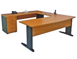 Escritorio ejecutivo para oficina mod ej2132 muebles para for Escritorios modulares para oficina