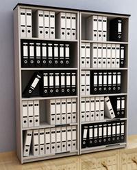 Libreros y credenzas para oficina muebles para oficina for Libreros minimalistas para oficina